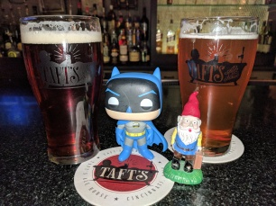 "Raph and Bats got in on the fun over Santa's Bribe, a ""winter warmer"" and the Gavel Banger IPA."